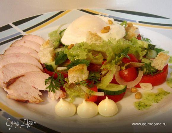 Салат с копчёной куриной грудкой