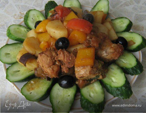 Жаркое из свинины и овощей-гриль