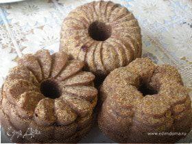 Шоколадные кексы с вишнями