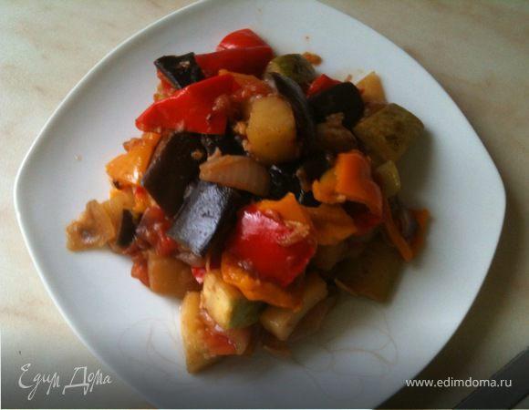 Летние овощи в воке