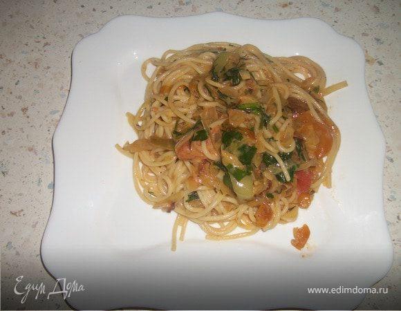 """Спагетти """"Лето"""" с овощами"""