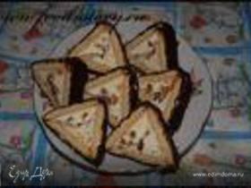 пироженое из печенья с творогом