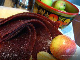 Яблочная пастила без сахара