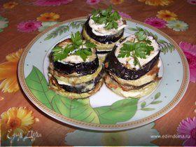 Баклажано - кабачковые горки в кляре