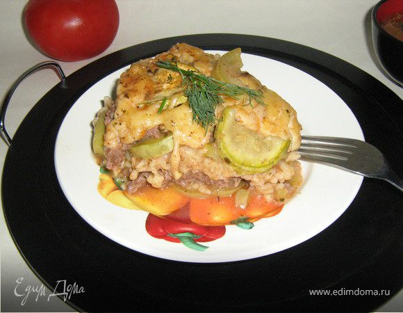 Слоёная запеканка с кабачками или ужин для всей семьи