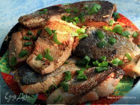 Красная рыбка в горчично-соевом маринаде