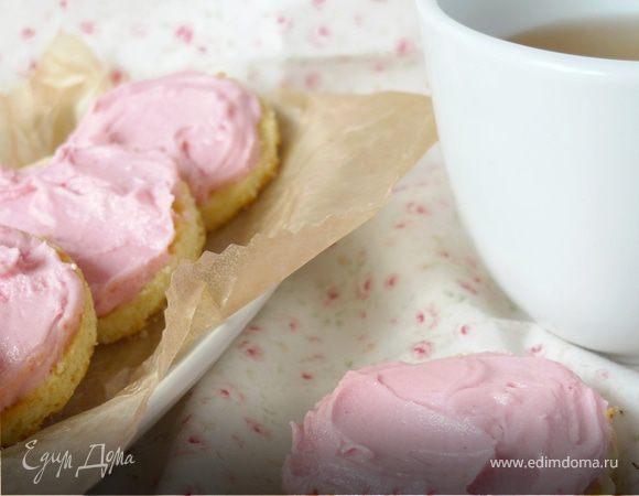 Очаровательное печенье с розовым кремом