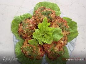 Куриные оладушки с овощами