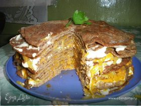 Вкусненький Печеночный торт