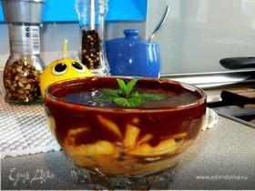 Шоколадная глазурь «моментального приготовления» и персики в ней