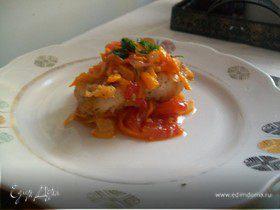 Тушёная рыба с помидорами
