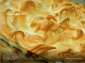 Творожно-тыквенный пирог с белковым суфле