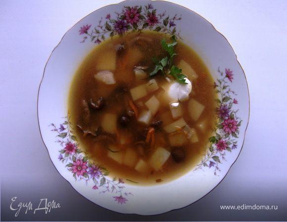 Суп с грибами и картофелем