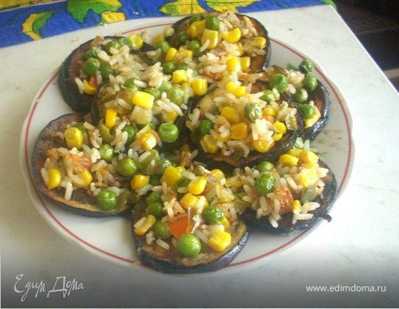 Баклажанная закуска с замороженными овощами
