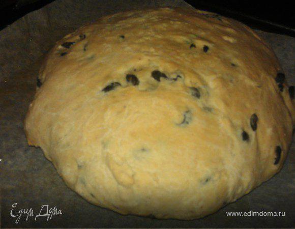 Домашний хлеб с маслинами