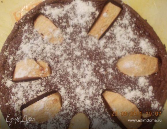 Яблочно-шоколадный пирог
