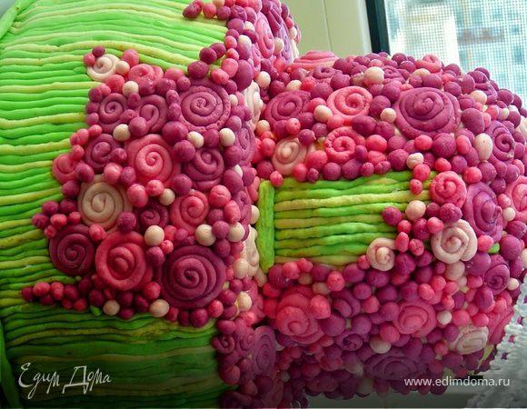"Торт ""Цветочная поляна"""