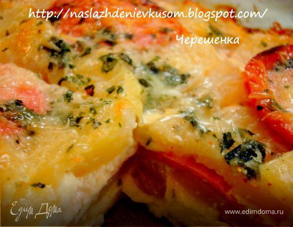 Запеканка картофельная с колбасой и сыром