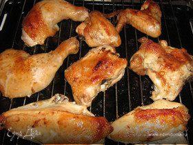 Курица-гриль по-домашнему.
