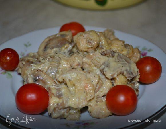 Жульен с грибами и курицей