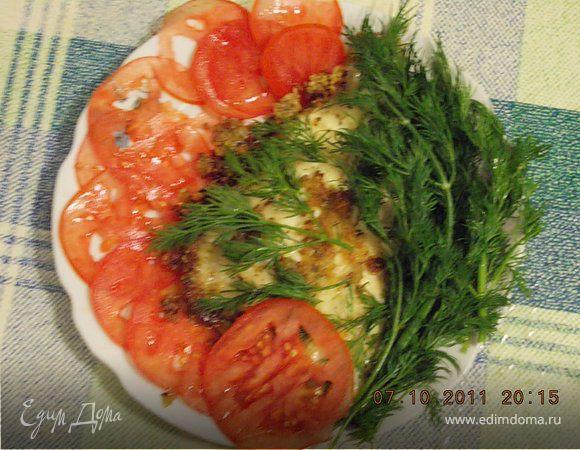 Камбала в панировке с сыром и травами