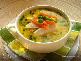 """Куриный суп карри с """"замаскированной"""" цветной капустой"""