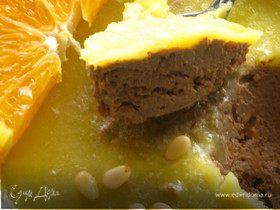Печеночный паштет с тыквой и апельсиновым соком