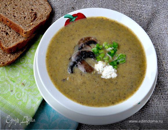 Крем-суп с шампиньонами и тыквой
