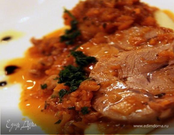 РЕЦЕПТЫ ИЗ ИТАЛЬЯНСКОГО ПУТЕШЕСТВИЯ - Тушеная телятина в овощном соусе с жареным картофелем