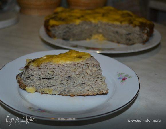 Пирог из мяса и грибов