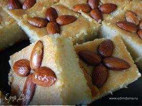 Десерт из манки с миндалeм