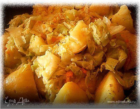 Калья капустная с картофелем (тушеные овощи)