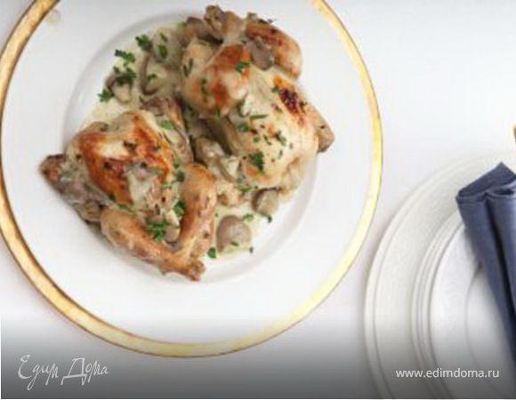 Цыплята с грибами и тимьяном (рецепт от Юлии Высоцкой)