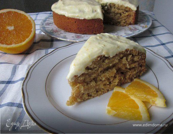 Тыквенный пирог со специями под цитрусовым кремом (Orange and Spice Pumpkin Cake)