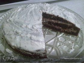 Черемуховый торт с грецкими орехами