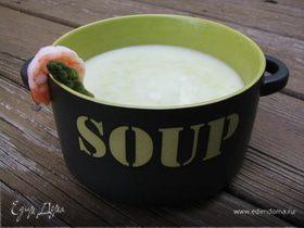 Спаржевый суп-пюре с креветками