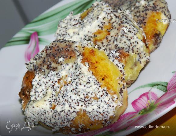 Сырники с изюмом и маковым соусом по-белорусски