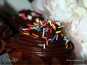 Кексы шоколадные с шоколадным кремом