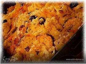 Рыба томленая с рисом в духовке
