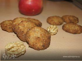 Яблочно-ореховое печенье