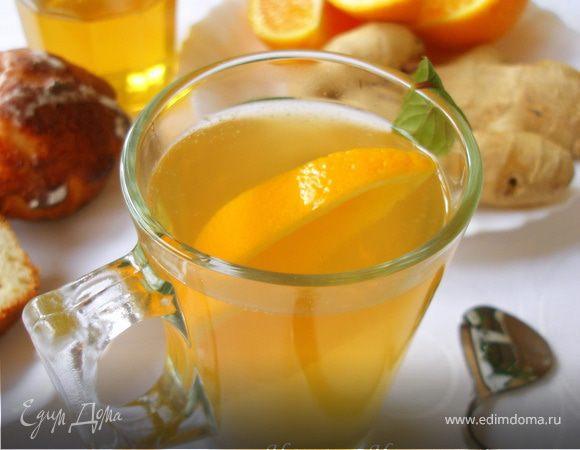 Имбирный чай с лимоном и апельсином рецепт пошагово