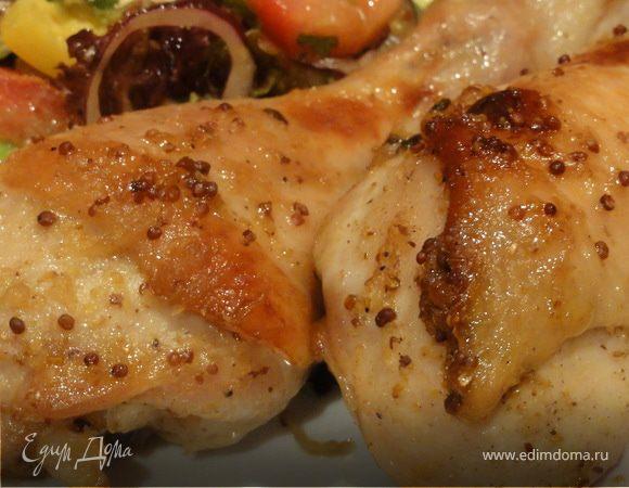 Куриные ножки в кленовом сиропе, с соком лайма, имбирем и горчицей.