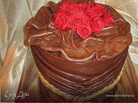"""Торт """" Розы с драпировкой"""""""