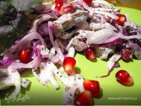Удивительный салат с капустой, телятиной и маком