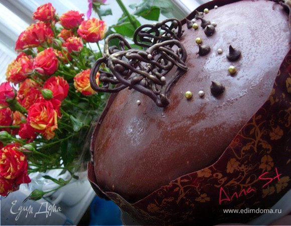 МК Украшаем шоколадный торт