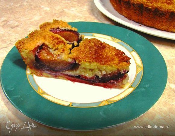 Пирог сливовый с франжипаном
