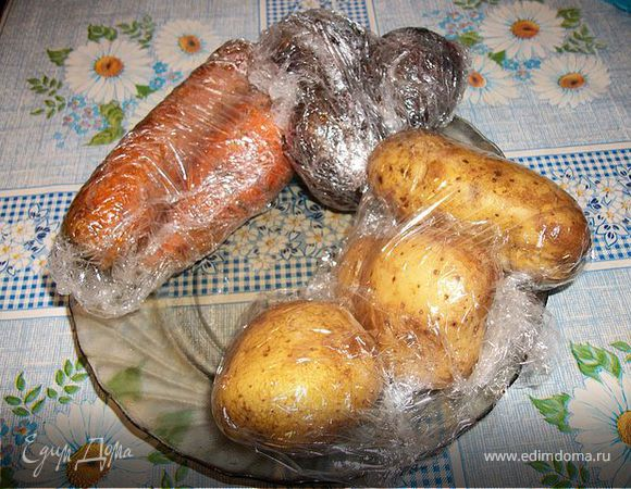 Отварные в СВЧ овощи для салатов, винегретов и шуб