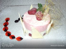 Малиновое суфле с белым шоколадом