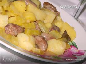 «Бланкет от Жозефины» (ароматное жаркое с куриными сердечками)