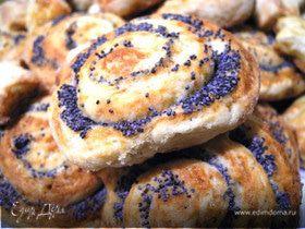 Творожные плюшки с маком и хрустящие печенья